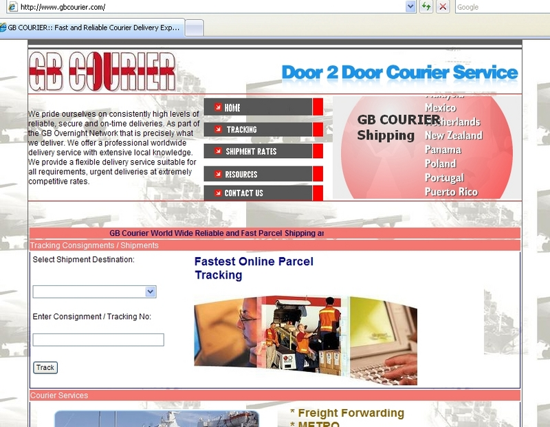 professional courier tracking online