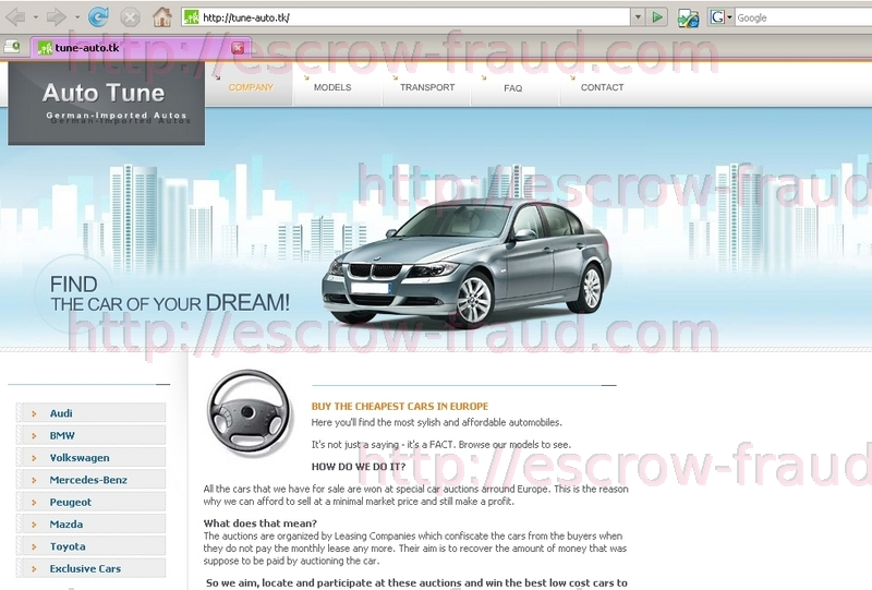 Search database escrow fraud prevention Escrow motors